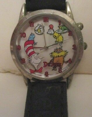 Dr Seuss Cat In The Hat Lorax Green Eggs & Ham Character Wrist Watch 1997