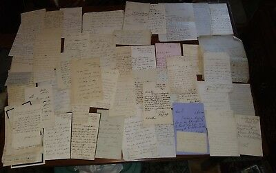 Lot of Antique British Letters Papers Notes from the 1800's Beautiful Writing