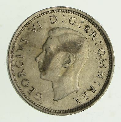 Roughly Size of Dime - 1942 Great Britain 6 Pence - World Silver Coin *530