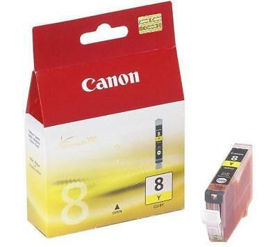 Lot of 2 NEW Canon CLI-8Y Yellow Ink Tanks GENUINE!