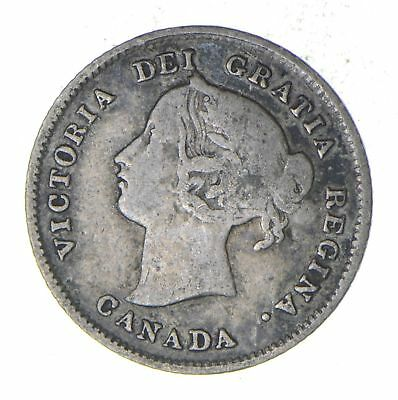 1874 Canada 5 Cents - Silver World Coin *785