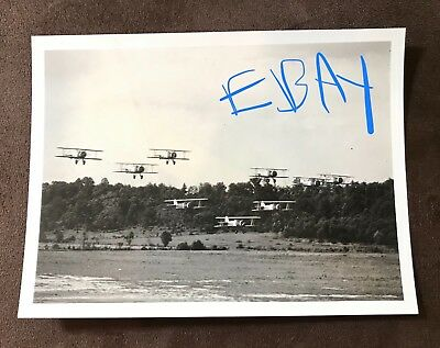 1934 Small Press Photo CLEVELAND NATIONAL AIR RACES Observation Squadron 7M USMC
