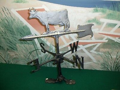 """VINTAGE COW WEATHER VANE - 22"""" Tall x 18"""" WIDE ARROW - WEIGHT = 3.2 LBS"""