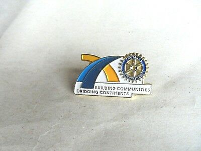Vintage Rotary International Building Communities Building Continents Lapel Pin