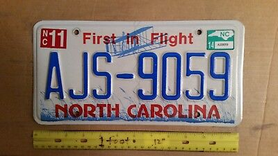 License Plate, North Carolina, First In Flight, AJS - 9059