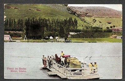 Rope Ferry on Snake River, 1912 Postcard