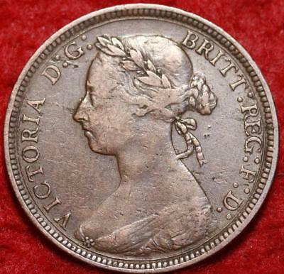 1889 Great Britain 1/2 Penny Foreign Coin