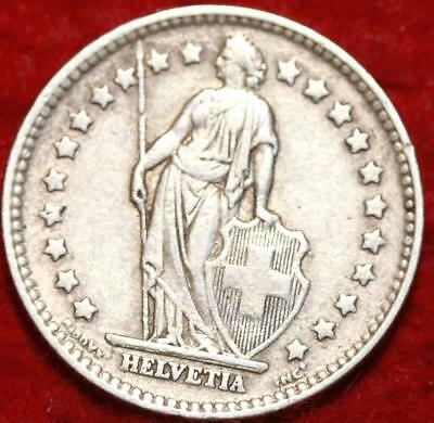 1936 Switzerland 1 Franc Silver Foreign Coin
