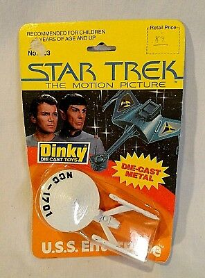 "1979 Dinky Toys Star Trek ""the Motion Picture"" Diecast Uss Enterprise In Package"
