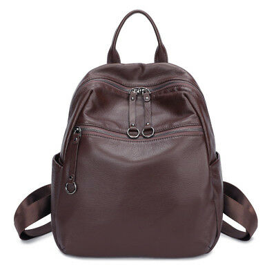 100% Soft Natural Italian Genuine Leather Shoulder Women Backpack Ladies Purse