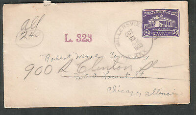 1933 cover Millersview TX to Robert Moore Co Chicago
