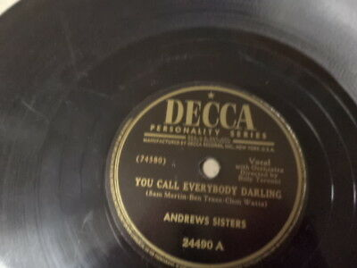 Later 40s Decca 78/Andrews Sisters