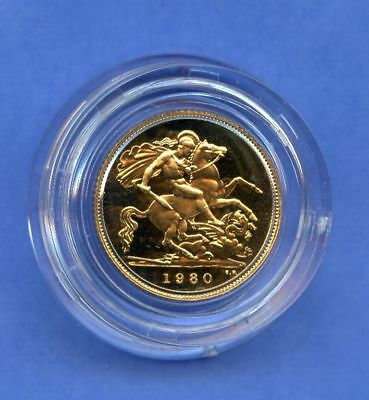 England 1/2 Sovereign 1980 Proof Gold
