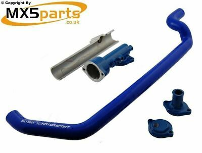 MX5 Coolant Hose Reroute Kit With Blue Hose Mazda Eunos MX-5 Mk1 1.6 1989>1998