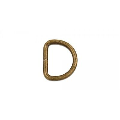 """1909 D Ring 1-1/4"""" (32mm) - Nickel Free - Antique Brass Finish - Pack Of 10"""