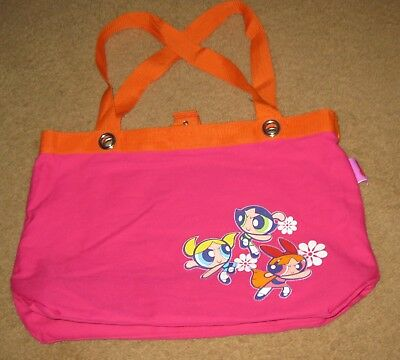 RARE POWER PUFF GIRLS Canvas Tote Bag Early 2000's PowerPuff