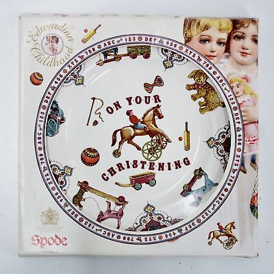 "Vintage On Your Christening Edwardian Childhood by Spode 8"" Plate #417"