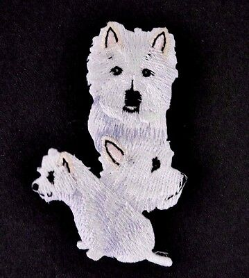 ***embroidered*** Iron On Patch Dog Detailed Quality West Highland Terrier Fr Sh