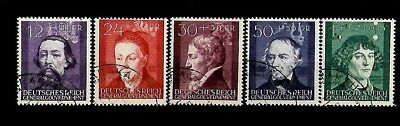 Germany Third Reich Stamps General Government Mi 96-100 used