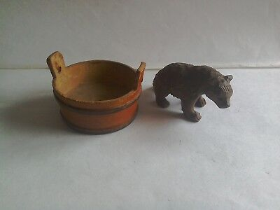 Black Forest carved Miniature Bear etc.