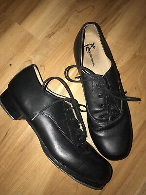 Leather Oxford Professional Quality Lace up Black Tap Shoes