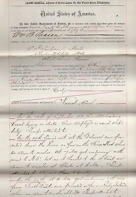 1881 Ships Report Loss of Cargo From Near Sinking