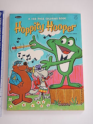 1966 Jay Ward Hoppity Hooper Whitman Coloring Book Bullwinkle  High Grade Unused