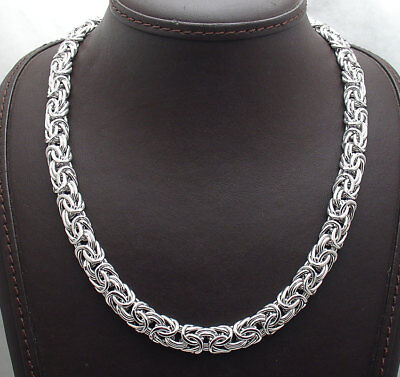 """18"""" Bold Byzantine Chain Necklace Anti-Tarnish Real 925 Sterling Silver"""