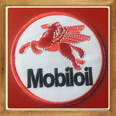 🇨🇦 Mobil Oil Pegasus  Patch Embroidered Sew On/stick On Clothing/new 🇨🇦 #1