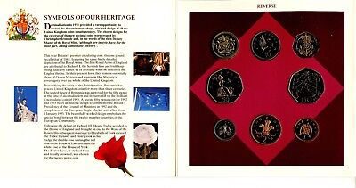 1993 United Kingdom Brilliant Uncirculated Coin Collection UK Royal Mint - JB189