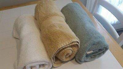 Lot of 3 Large Absorbent Bath Towels