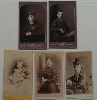 Southport Photographers, 1870s to 90s 5 Carte de Visite.