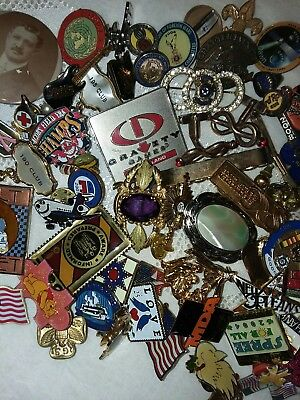 Vintage To Modern Collectible Pins Lot 65 Pieces All Good