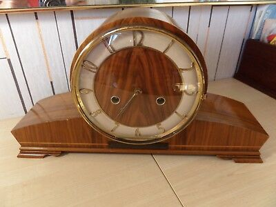"Lovely ""stanton"" Smiths Movement, Chiming Mantle Clock. 8"" High. Super Condition"