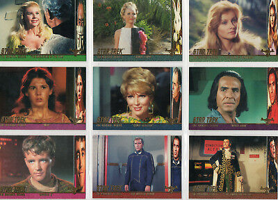 Star Trek TOS Season 1 - Lot Of 10 Profiles chase cards EX Skybox 1997