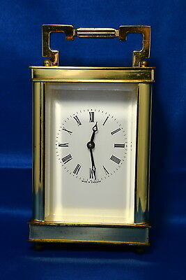 Vintage Brass Wind Up Carriage Clock By Lionel Peck London