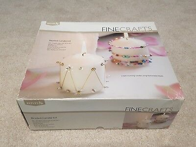 Reeves Finecrafts Beaded Candle Kit Gift - Stunning Candles + Fashionable Beads