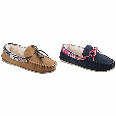 352721c51 Cotswold Womens/Ladies Kilkenny Classic Fur Lined Moccasin Slippers (FS3811)