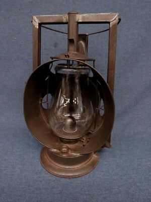 1909 Dietz Protector Trackwalker Lantern New York U.S.A. Railroad Lamp