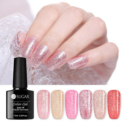 UR SUGAR 7.5ml Rose Gold Soak Off UV Gel Polish  Nail Art Gel Varnish