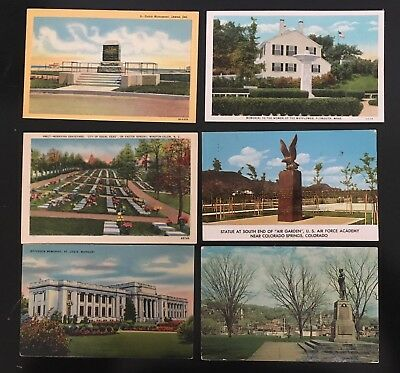 Lot of 20 Monument Postcards - Monuments - Memorials - Statues - Tombs