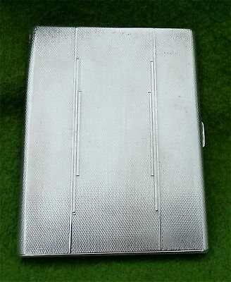 STYLISH WEIGHTY VINTAGE SILVER CIGARETTE / CARD CASE - B'HAM 1937 - 5.16 troy oz