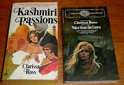 lot of 2 Vintage Clarissa Ross : VOICE FROM THE GRAVE and KASHMIRI PASSIONS