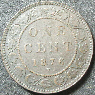 1876-H Canada Large Cent Coin