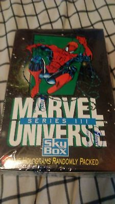Marvel Universe Series 3 Iii 1992 Trading Card Skybox Sealed Box