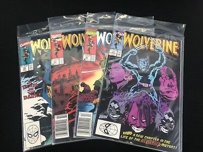 Lot of 4 Marvel Comic Books Wolverine 31 32 33 34