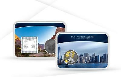 USA 2017 1$ American Eagle 1 Oz Silver Coin Multiplied Plated Edition