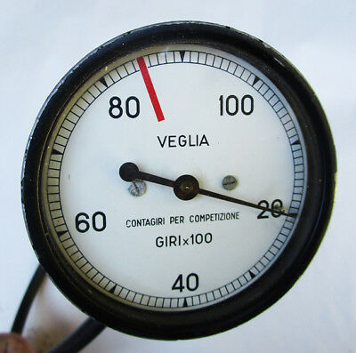 Vintage Veglia Competition Racing Italian Motorcycle Tachometer Ducati 10000 Rpm