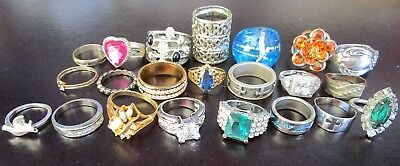 Beautiful Lot of Vintage Rings Sterling & MORE!