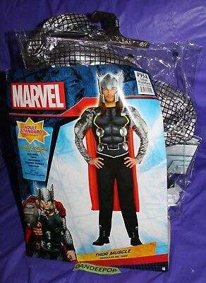 Amscan Marvel Thor Muscle Suit Ultron Size Adult Standard Halloween Costume
